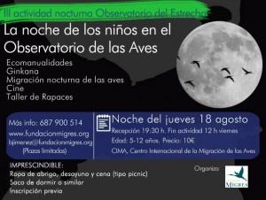 III Actividad La noche de los niños CIMA