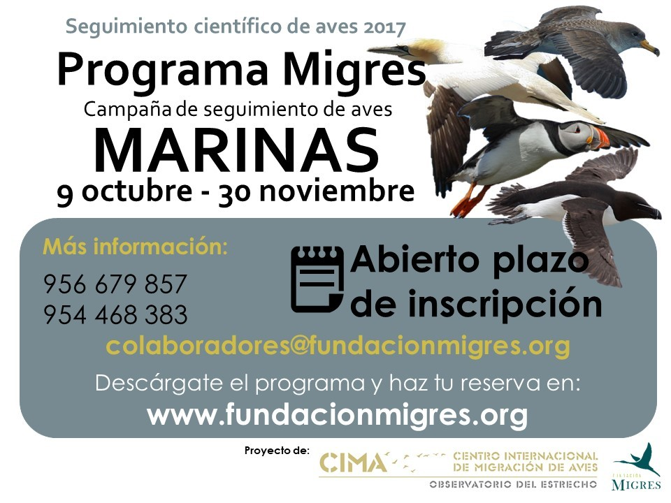 Cartel Migres Marinas 2017
