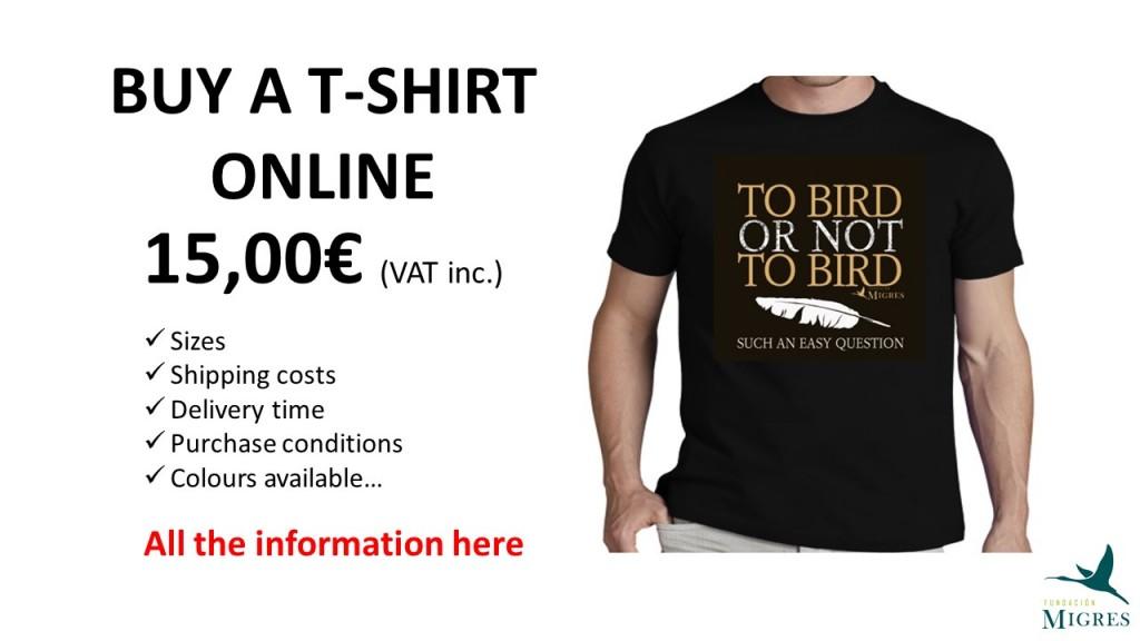 Cartel compra camisetas INGLÉS